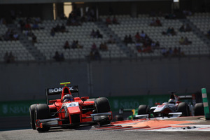 Mitch Evans didn't have Lady Luck on his side in round 11 of the 2013 GP2 Championship at the Yas Marina Circuit in Abu Dhabi at the weekend. Picture / GP2 Media