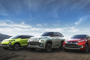 Mitsubishi's three concepts feature 'e-Assist 7' active safety systems.