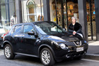 World designer Denise Le'Strange Corbet with her Nissan Juke. Photo / Nigel Marple