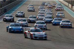 Earl Bamber (NZ) had pole position for the first race at the Yas Marina Circuit in Abu Dhabi last weekend.
