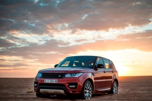 The new Range Rover Sport conquered the harsh Empty Quarter desert and set fastest recorded time of 10 hours, 22 minutes. Photo / Supplied