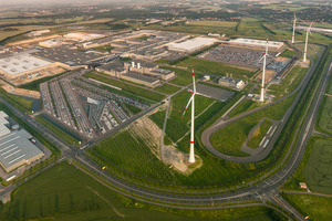 BMW's i3 plant is powered by wind turbines.