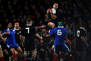 Israel Dagg has helped turned the aerial side of the game from a weakness to a strength for the All Blacks. Photo / Getty Images