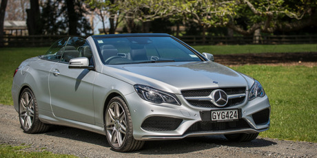 Mercedes E250 Convertable. Photo / Ted Baghurst.