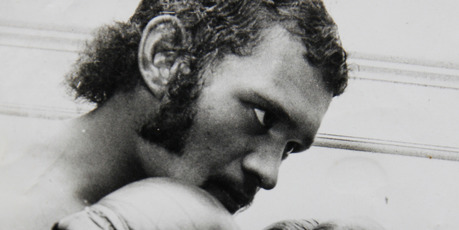 Former champion boxer Charlie Dunn in his heyday as a pro boxer and heavyweight boxing champion.