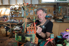 Paddy Stuart says his wooden creations are products of a 'God-given gift'. Photo / Mark Mitchell