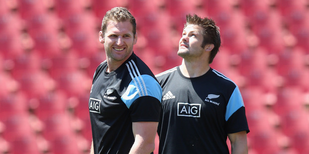 Kieran Read says Richie McCaw brings a whole different dimension to the team. Photo / Getty Images