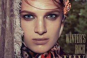 NZ based model Ashleigh Good on the cover of Italian Vogue. Photo / Steven Meisel.