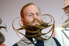 Justin Kellermeister in the category full beard freestyle.Photo / AP