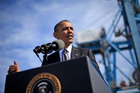 President Barack Obama speaks at the Port of New Orleans.Photo / AP