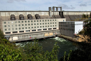 Mighty River Power's Whakamaru Dam, one of its stations on the Waikato River. Photo / Alan Gibson