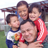 Peter Fatialofa with three of his eight children, Giovanni, Courtney and Shelby. Photo / NZH