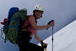 Heather Rhodes, 36, was rescued from the South Island Arrowsmith Range glacier.