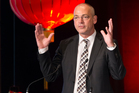 Fonterra CEO Theo Spierings during the panel session. Photo / Greg Bowker