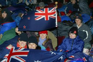 New Zealand and Australians camped out waiting for the dawn service at Anzac Cove on the Gallipoli Peninsula. Photo / Mark Mitchell