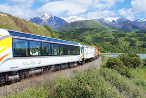 The Northern Explorer train travelling between Auckland and Wellington.