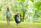 Use some rope and a old tyre to make a swing for your children to have hours of fun on.