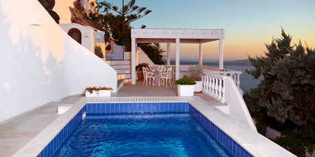 The pool and patio at Sea Horse Residence. Photo / Justine Tyerman