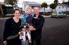 Anne and Adam McGregor with Toby and Cayd. Photo / Dean Purcell