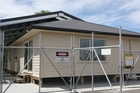 SOLD: The student-built UCOL home, auctioned for charity on Saturday.
