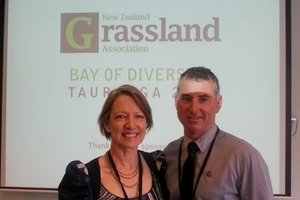 NZ Grassland president Jacqueline Rowarth and vice-president Warwick Lissaman are in Tauranga for its 75th annual conference.