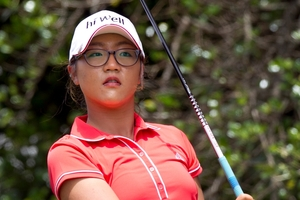 Lydia Ko was playing to help the Hi Well Charitable Foundation in Takapuna yesterday. Photo / Natalie Slade