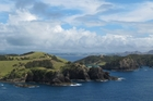 RUBBISH FREE: A barge will collect rubbish from boats and camps at collection sites in the Bay of Islands this summer. Pictured is Waewaetorea Island, with Okahu Island in the distance. PHOTO/PETER DE GRAAF