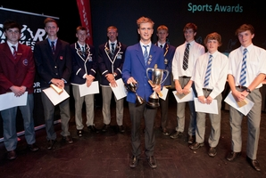 Cyclist Regan Gough won the Hawke's Bay Secondary Schools Sportsperson of the Year award.