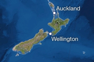 The National Geographic interactive map shows the effect on New Zealand if all the world's ice melted .