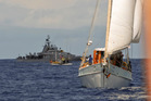 Members of Stop Deep Sea Oil flotilla off East Cape, Tuesday April 12, 2011. Photo: Greenpeace/Malcolm Pullman.