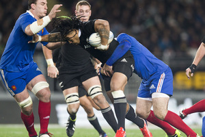 The All Blacks find another level when they play France. Photo / Greg Bowker