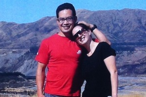 The photo of Hiroki Ogawa and Nicole Sutton used in the service sheet at their funeral.