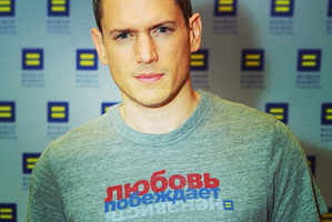 Wentworth Miller joined the T-shirt campaign. Photo / Human Rights Campaign