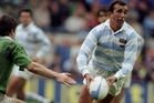 Hugo Porta, of Argentina, made kicking