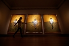 The three panels of Francis Bacon's triptych were once separated for 15 years until reunited by a collector. Photo / AP