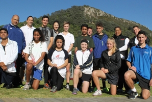 The New Zealand junior taekwondo team assembled in Mount Maunganui over the weekend. Photo / Ben Guild.