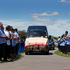 Samoan rugby legend Peter Fatialofa's arrives at the Manukau Memorial Gardens cemetery. Photo / Brett Phibbs