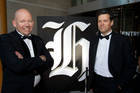 New Zealand Herald Editor Shayne Currie and The New Zealand Herald Editor in chief of Herald titles Tim Murphy. Photo / Richard Robinson