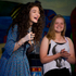 Kiwi superstar Lorde (left) visited Belmont Intermediate School in Auckland. Photo / Sarah Ivey