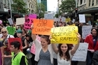 "Thousands of protesters throughout the country have taken part in a series of synchronised protests aiming to ""bust rape culture""."