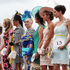 Best Dressed Finalists await the winners announcements during New Zealand Trotting Cup Day at Addington Raceway. Photo / Getty Images