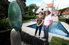 Sue and Colin McLean in the garden they designed in Upland Rd, Remuera. Photo / Jason Oxenham