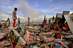 The devastation in the Philippines touched many hearts. Photo / Getty Images