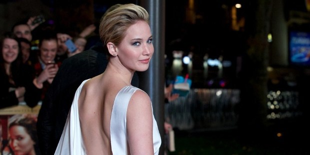 Jennifer Lawrence at world premier of 'The Hunger Games: Catching Fire' in Leicester Square, central London. Photo / AFP