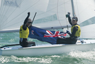 New Zealand Olympic class sailors Jo Aleh and Polly Powrie have been named Rolex ISAF Female Sailor of the Year for 2013. Photo / Getty Images.