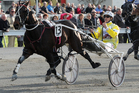 Christen Me is the punters' choice to win the New Zealand Trotting Cup at Addington today.Picture / Race Images