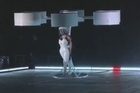 Lady Gaga unveils her flying dress invention, 'Volantis,' at the launch of her new album in New York. The superstar also confirmed that she will be going to space as part of Virgin's suborbital space trek in 2015.