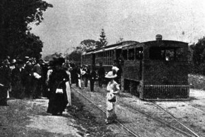 A tram in Takapuna, 1913.