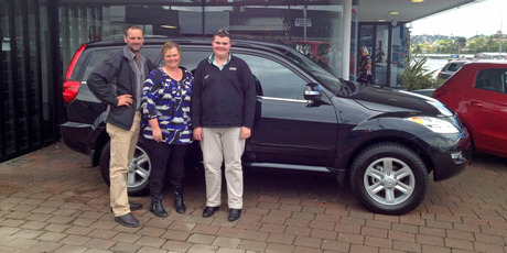 Scott and Kirsteen McConnachie and son Alastair with their Great Wall X240 SUV.