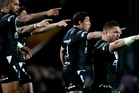 New Zealand players preform the Haka before the Rugby League World Cup Quarter Final match at Headingley Stadium. Photo / Getty Images.